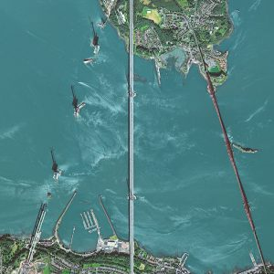 Queensferry Crossing Under Construction | Scotland | WorldView-2 | 7 September 2015