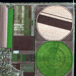 Circular Irrigation Fields   Ukraine   WorldView-3   9 September 2017