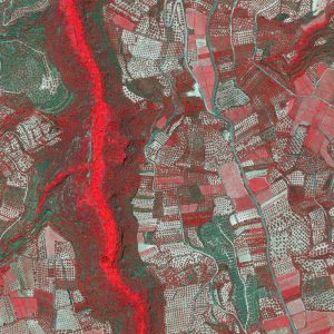 Fields in NIR   Crete   QuickBird   8 June 2007 © DigitalGlobe - Supplied by European Space Imaging