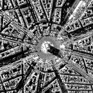 Arc de Triumphe | Paris | WorldView-1 | 5 November 2007 | © DigitalGlobe - Supplied by European Space Imaging