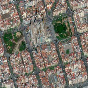 Sagrada Familia   Barcelona   Spain   WorldView-4   29 March 2017