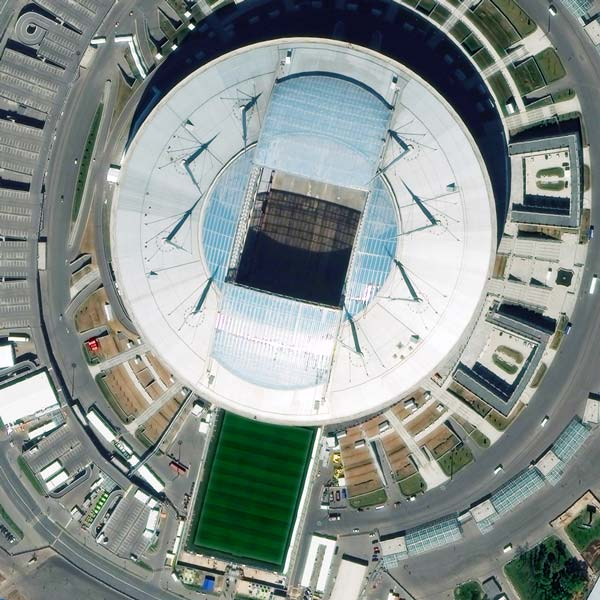 Saint Petersburg Stadium, St Petersburg | WorldView-3 | © DigitalGlobe - supplied by European Space Imaging