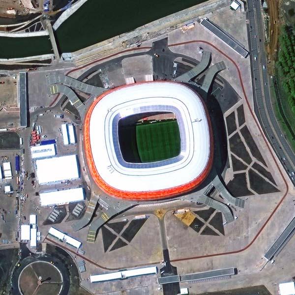 Mordovia Arena , Saransk | WorldView-3 | © DigitalGlobe - supplied by European Space Imaging