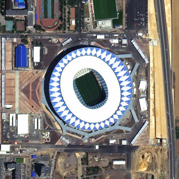 Volgograd Stadium, Volgograd | WorldView-3 | © DigitalGlobe - supplied by European Space Imaging