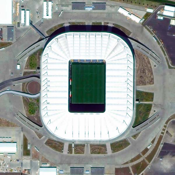 Rostov Arena, Rostov-on-Don | WorldView-3 | © DigitalGlobe - supplied by European Space Imaging