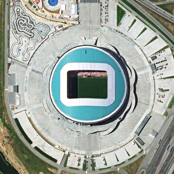 Kazan Arena, Kazan | WorldView-3 | © DigitalGlobe - supplied by European Space Imaging