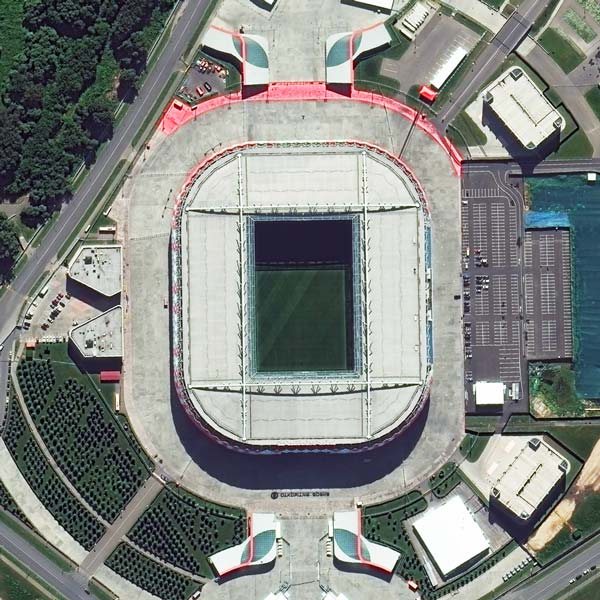 Spartak Stadium, Moscow | WorldView-3 | © DigitalGlobe - supplied by European Space Imaging