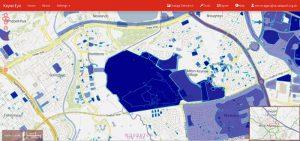Screenshots from Keyne Eye urban planning tool.