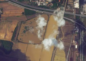 Flooded fields. ? by WorldView-2 @ 50cm resolution