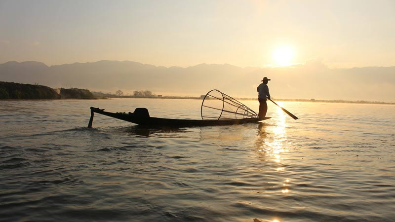Fish caught in the lake are a staple of the local diet.