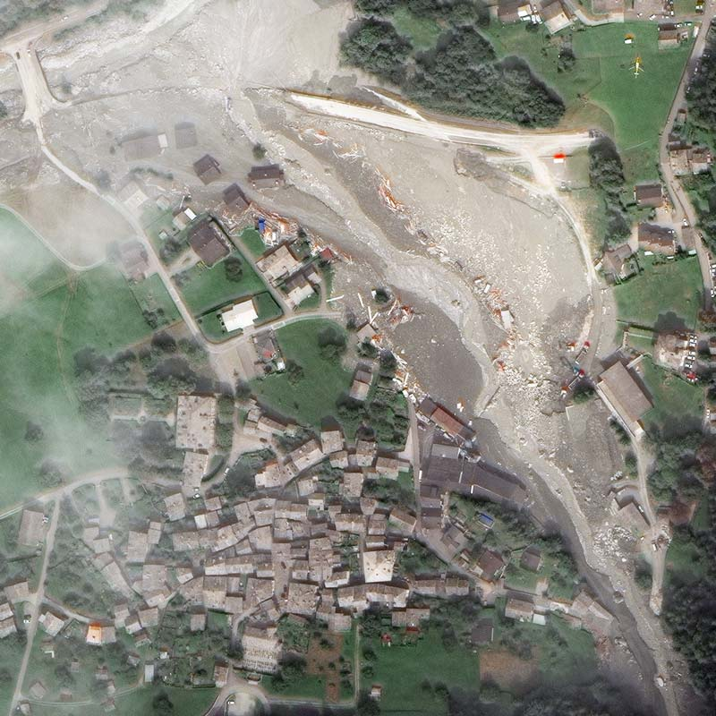 27 August 2017 | Bondo after two landslides | WorldView-3