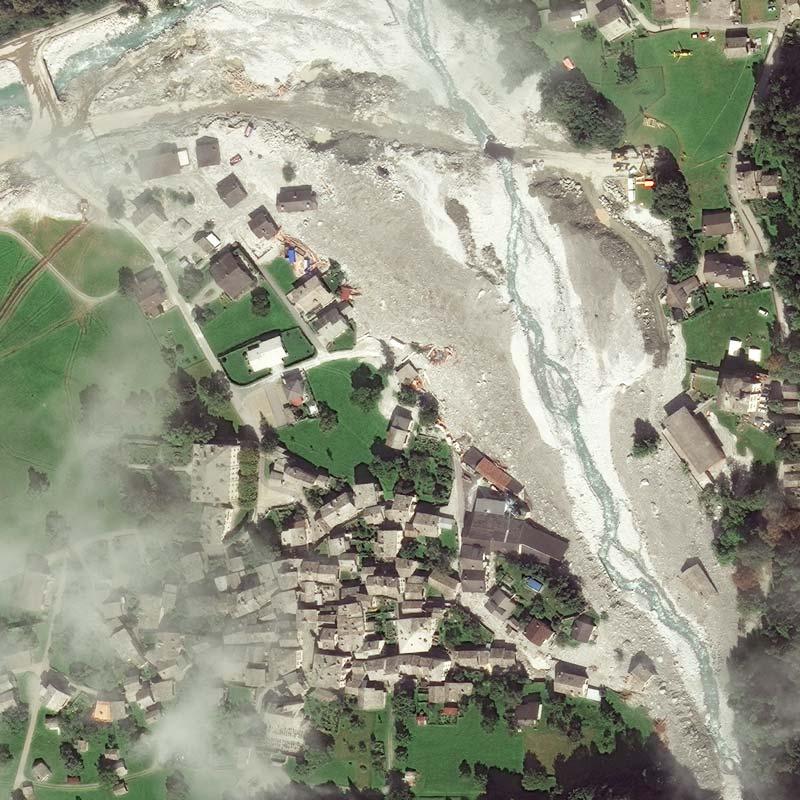 5 September 2017 | Bondo after three landslides | WorldView-4