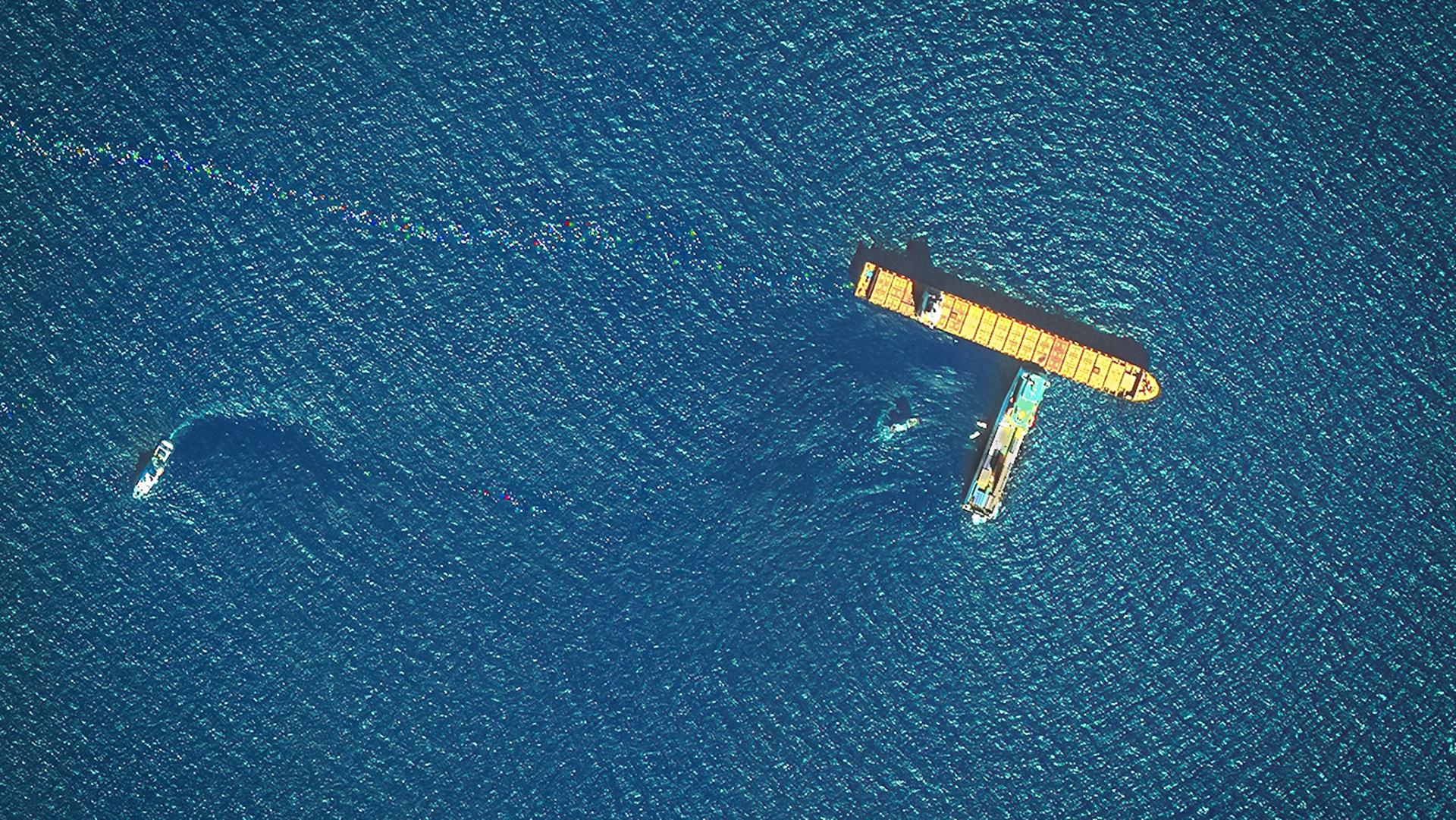 Major Oil Spill in the Mediterranean | European Space Imaging