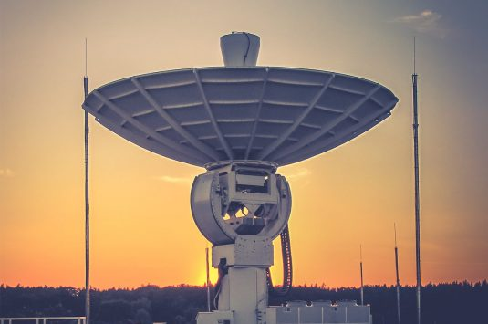 Antenna sunset