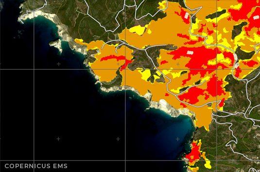 Greece fire grading map
