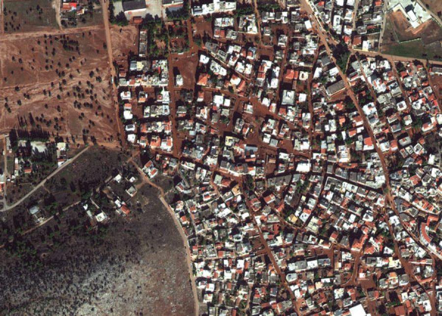 Mandra-After-17NOV21_WV4_EUSI_Greece_Mandra_flooded-streets-before_after