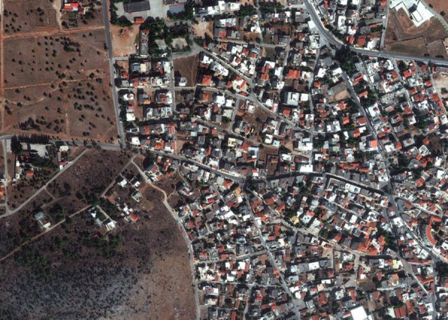 Mandra-Before-17NOV21_WV4_EUSI_Greece_Mandra_flooded-streets-before_after